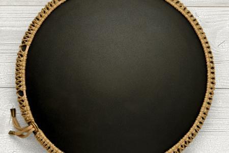 Freezbee drum, Dreamcatcher, black finishing
