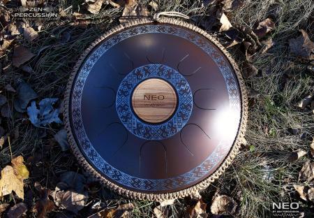 Guda steel tongue drum. Design Ukrainian.Model Neo 8
