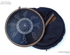 Guda steel tongue drum Dreamcatcher design. Photo with bag