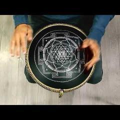 Guda Ortus alum. Hijaz scale. Sri Yantra design.