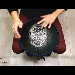 Guda Coin Brass overtone tongue pan. Mystic/African scale