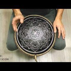 Guda Coin Brass overtone tongue pan. Dorian/Aurora scale.