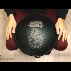 Guda Coin Brass overtone tongue pan. Zen Trance/Equinox scale