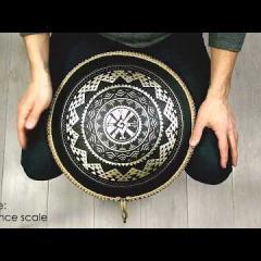 Guda Coin Brass overtone tongue pan. Zen Trance/Sakti scale