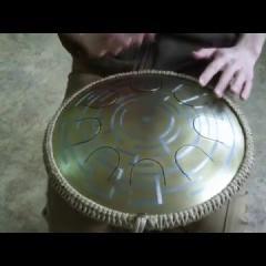 "Guda Freezbee.  Brass plating. ""Labirint"" design."