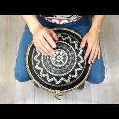 Guda Coin Brass overtone tongue pan. Zen Trance in D/Equinox scale
