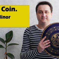 Guda Coin (Brass/aluminum). Celtic Minor E/Sakti scale. (Guda Drum, Steel tongue drum)