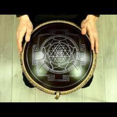 """Guda Freezbee. """"Akebono"""" scale. """"Sri Yantra"""" design. (in the frequency of A=432Hz)"""