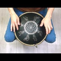 Guda Coin Brass overtone tongue pan. Zen Trance inD/Celtic minor scale