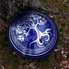 Celtic Tree. Midnight blue color