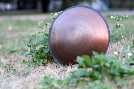 Freezbee steel tongue drum. Sri-Yantra. photo 8