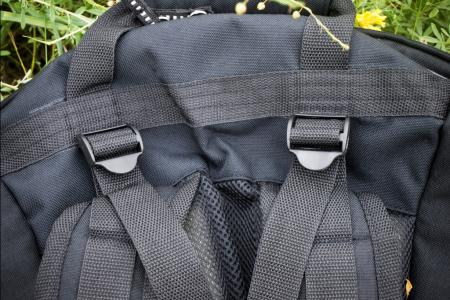 Travel bag. Photo straps