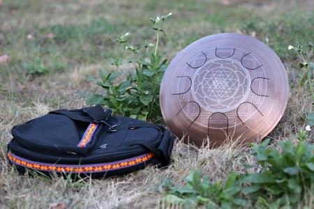 Freezbee steel tongue drum. Sri-Yantra. photo 2