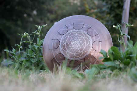 Freezbee steel tongue drum. Sri-Yantra. photo 7