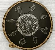 Freezbee drum, Dreamcatcher, black finishing. photo 1